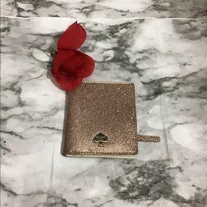 Kate Spade Rose Gold Metallic Bi-Fold Wallet